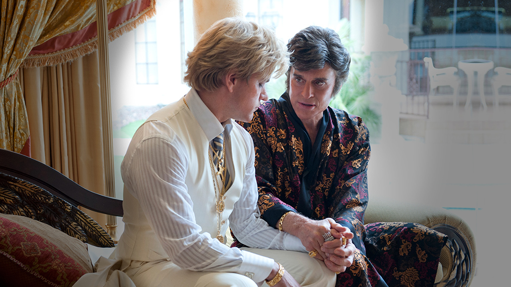 Behind the Candelabra (2013), directed by Steven Soderbergh and starring Michael Douglas, Matt Damon, Rob Lowe and Debbie Reynolds.