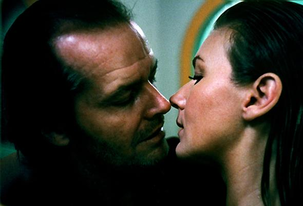 Jack Nicholson and Lia Beldam in The Shining (1980), directed by Stanley Kubrick.