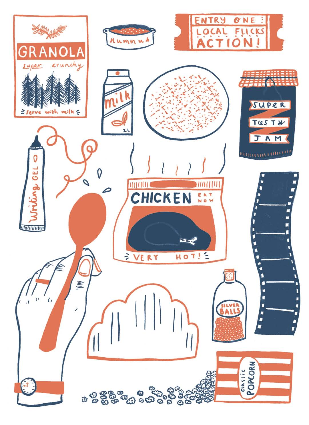 Popcorn's Last Pop, Published in Oh Comely Issue Twenty-Two, illustration by Caroline Dowsett