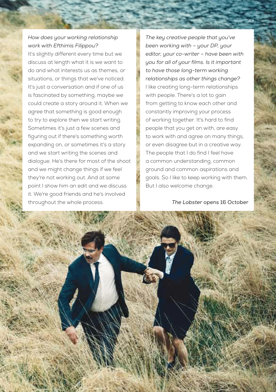 Yorgos Lanthimos interview (The Lobster) / Curzon Magazine